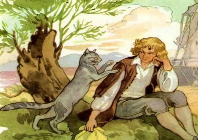 Фото кота в сапогах из сказки шарля перро рисунок