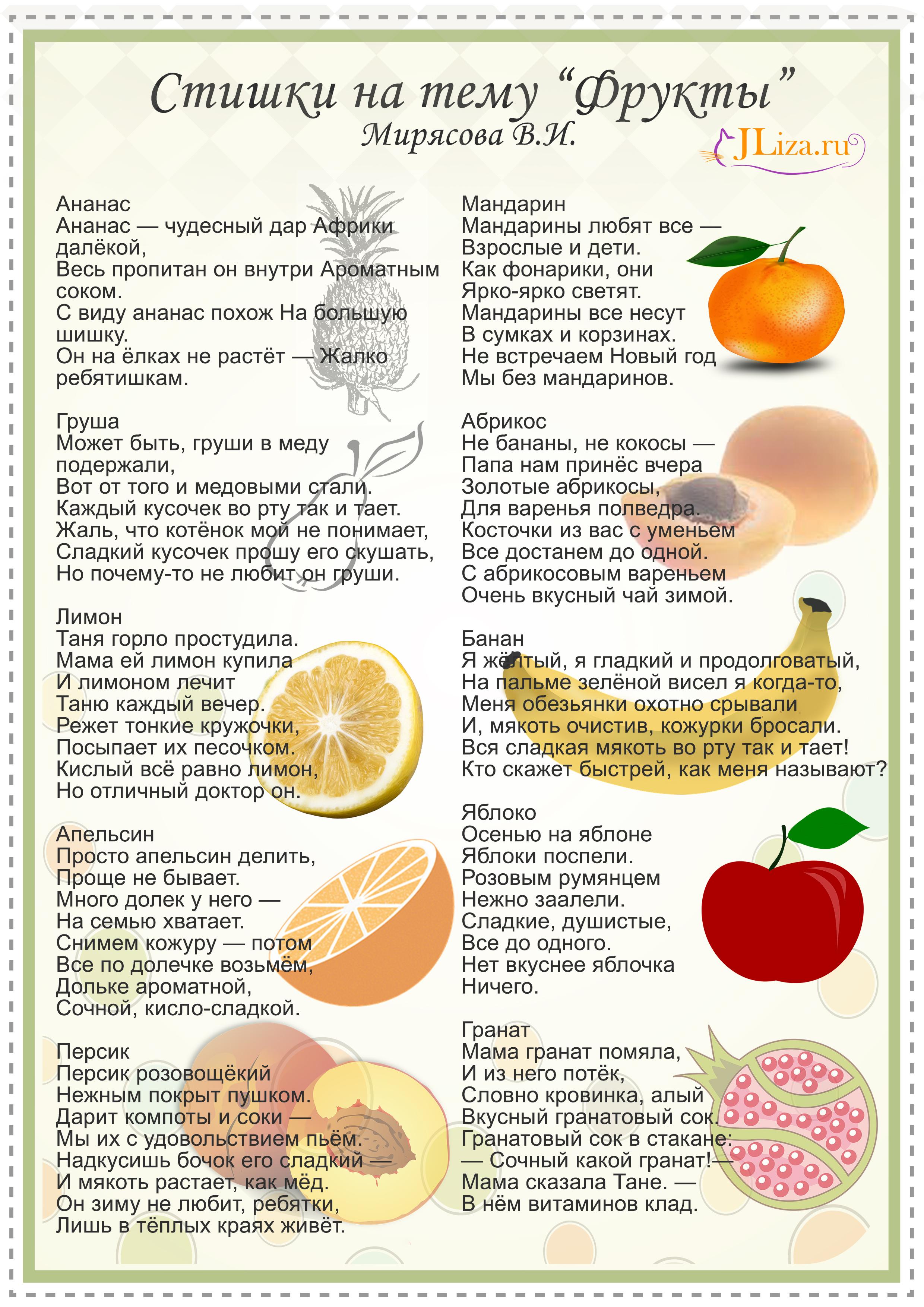 Шуточное поздравление с фруктами на 985