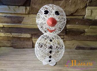 snegovik-iz-sharov24_thumb_w337_h250 Снеговик из ниток своими руками - пошаговое фото