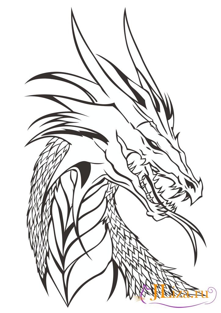 Крутые картинки дракона карандашом, картинки для